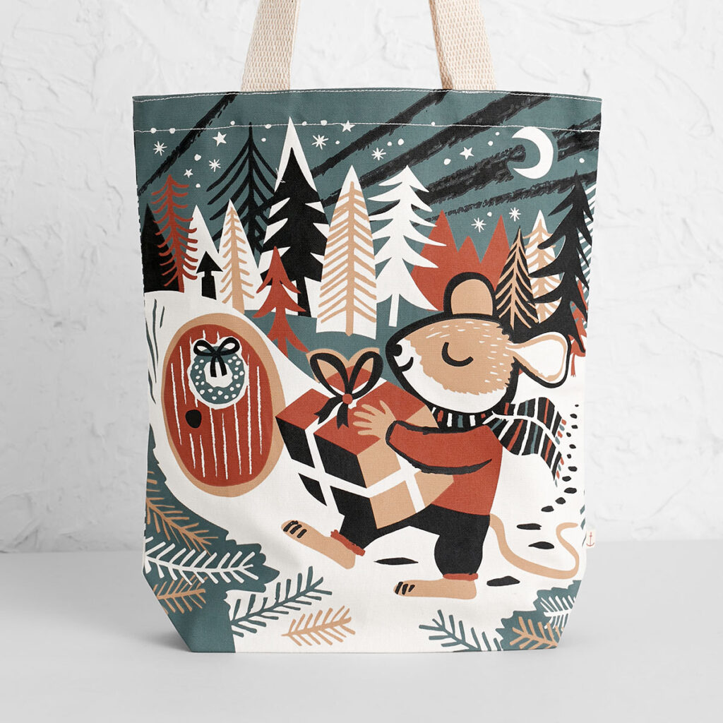 Gift mouse canvas tote bag by Matt Johnson