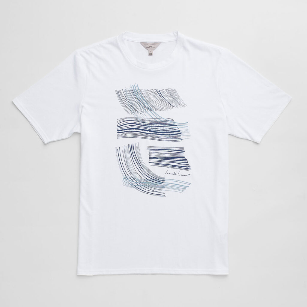 Men's wave t-shirt print by Matt Johnson