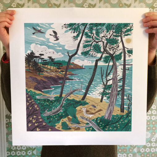 St Anthony Head Pines Print by Matt Johnson